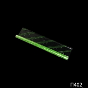 Полипропиленовая пленка с рисунком зелёного цвета